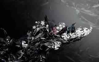 Abstract Grayscale Flowers wallpapers and stock photos