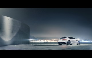 2014 Jaguar F-Type R Coupe Polaris White Static Rear Angle wallpapers and stock photos