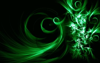 Random: Green Swirls Abstract