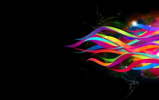 Abstract Ribbons Rainbow wallpapers and stock photos
