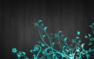 Blue Flowers Black Wood wallpapers and stock photos