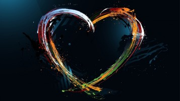 Painting Heart Splashes wallpapers and stock photos