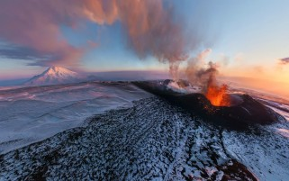 Volcano Eruption Ashes Russia wallpapers and stock photos