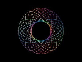 Random: Colorful Spirograph Abstract