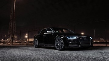 Black Audi S4 at Night wallpapers and stock photos