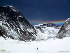 Mount Everest People & Rainbow wallpapers and stock photos