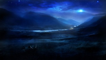 Dreamy Night Landscape wallpapers and stock photos