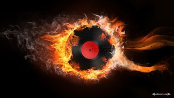Random: Burning Music Vinyl Love
