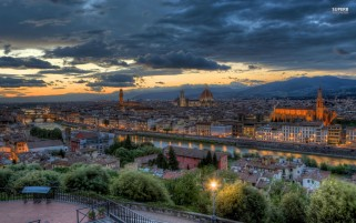 Florence At Dusk Tuscany wallpapers and stock photos