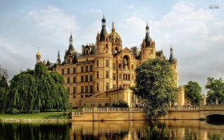 Schwerin Castle Germany wallpapers and stock photos