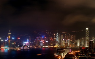Hong Kong By Night wallpapers and stock photos