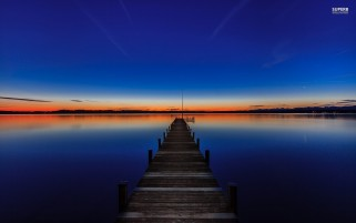 Dock Under The Dusk wallpapers and stock photos