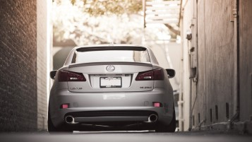 Silver Tuned Lexus IS250 Rear wallpapers and stock photos