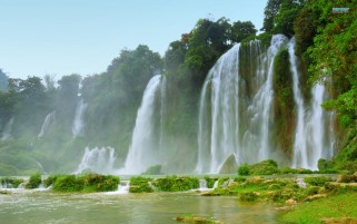 Detian Ban Gioc Falls Two wallpapers and stock photos
