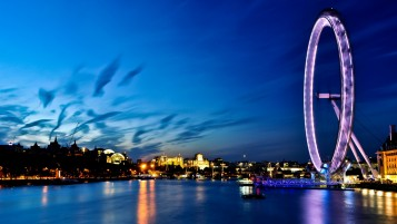 London Eye at Night wallpapers and stock photos