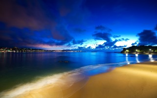 Blue Sky Ocean Beach Naturaleza wallpapers and stock photos