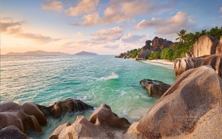 Ocean Seychelles Beach & Palms wallpapers and stock photos