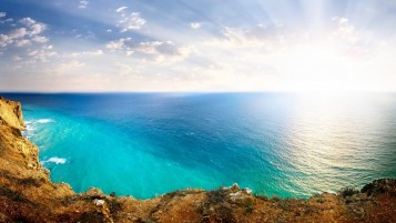 Random: Sunlight Blue Ocean Coast