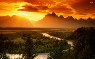 Snake River Grand Teton Park wallpapers and stock photos