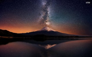 Random: Mount Fuji Night Stars Sea