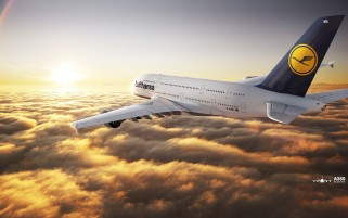 Lufthansa Airbus A380-800 wallpapers and stock photos