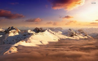 Random: Snowy Mountains Peaks & Clouds