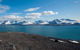 Svalbard Norway Riverside wallpapers and stock photos