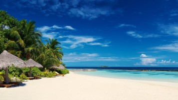 Tropical Maldives Island Beach wallpapers and stock photos