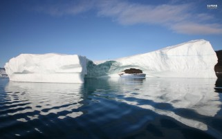 Icebergs Disko Bay Reflect wallpapers and stock photos
