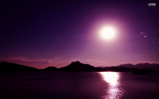 Purple Night & Lake wallpapers and stock photos