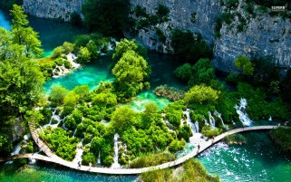 Lovely Plitvice Lake wallpapers and stock photos