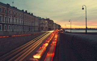 Saint Petersburg at Sunset wallpapers and stock photos