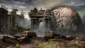 Post Apocalyptic Moscow wallpapers and stock photos