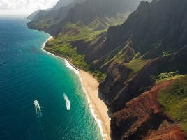 Cliffs Ocean Kauai Beach Hawai wallpapers and stock photos