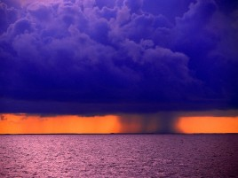 Rain at Sea wallpapers and stock photos