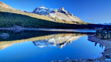 Mountains Shadow Lake Stones wallpapers and stock photos