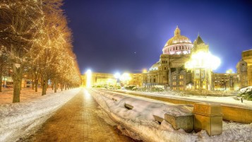 Winter Cityscape wallpapers and stock photos