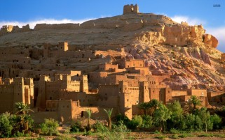 Kasbah Ruins Morocco wallpapers and stock photos