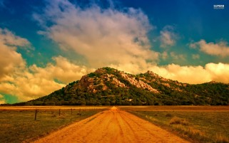 Dirty Mountain Road wallpapers and stock photos