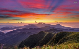 Random: Colorful Sunrise & Mountains