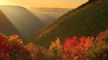 Autumn Mountains & Sunlight wallpapers and stock photos