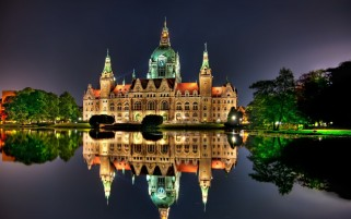 City Castle Hannover Germany wallpapers and stock photos