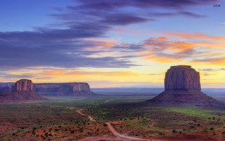 Monument Valley Colorful Sky wallpapers and stock photos