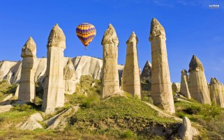 Balloon Cappadocia Turkey wallpapers and stock photos