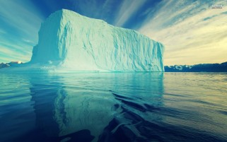 Random: Light Blue Iceberg & Water
