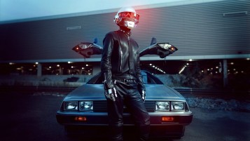 Daft Punk DeLorean wallpapers and stock photos