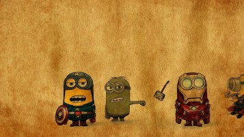 Despicable Me vs. Avengers wallpapers and stock photos