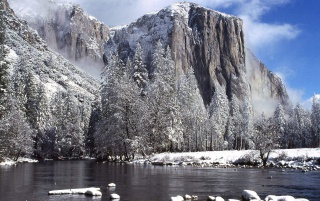 El Capitain In Winter wallpapers and stock photos