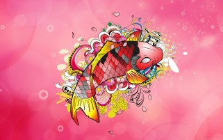 Random: Koi Design Artwork Pink