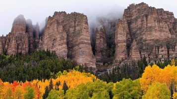 High Mountains & Autumn Forest wallpapers and stock photos
